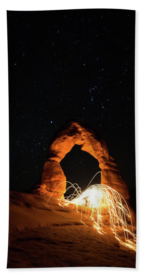 Delicate Arch Beach Towel featuring the photograph Delicate Arch Steel Wool by Nathan Bush