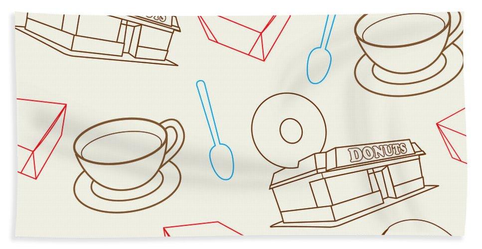 Donut Beach Towel featuring the digital art Doughnut_wallpaper_f3 by Shaun Newton