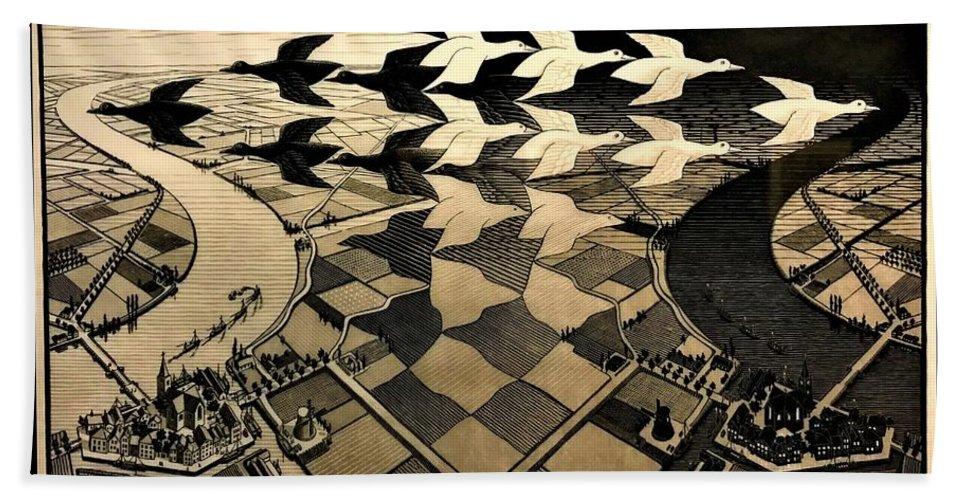 Maurits Cornelis Escher Beach Towel featuring the photograph Escher 116 by Rob Hans