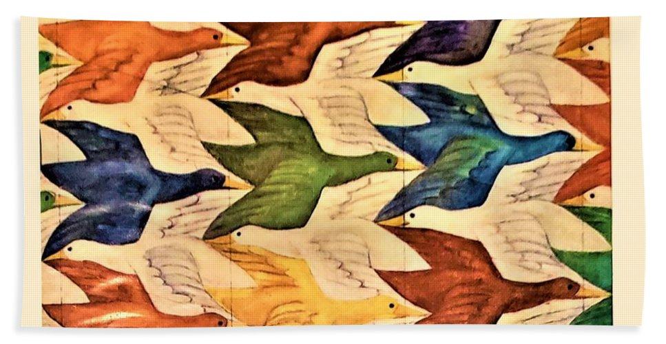 Maurits Cornelis Escher Beach Towel featuring the photograph Escher 182 by Rob Hans