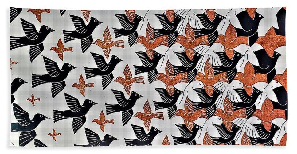 Maurits Cornelis Escher Beach Towel featuring the photograph Escher 7 by Rob Hans