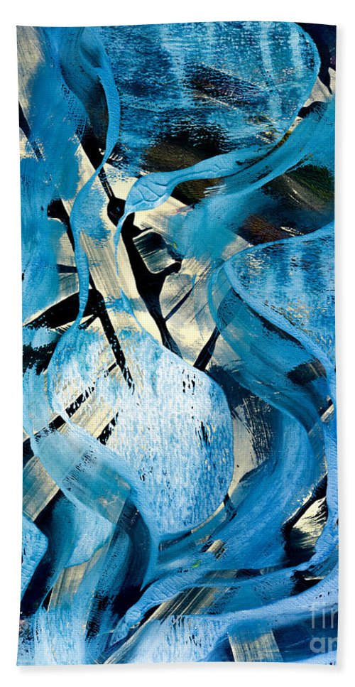 Blue Beach Sheet featuring the painting Favorite Blue Abstract by Laura L Leatherwood