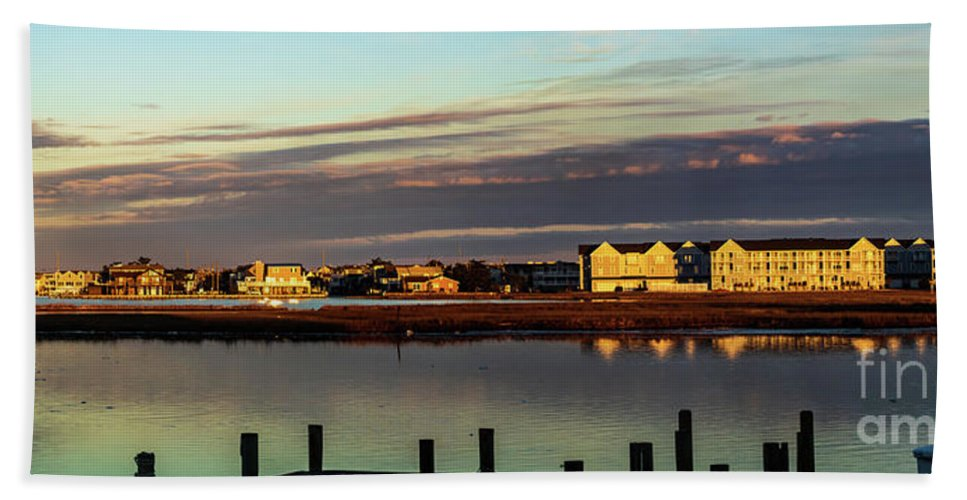 America Beach Towel featuring the photograph Fenwick Island Panorama by Thomas Marchessault