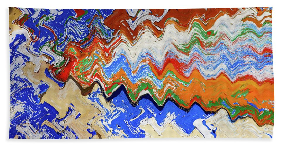 Colours Beach Towel featuring the photograph Flaking Paint by Digby Merry