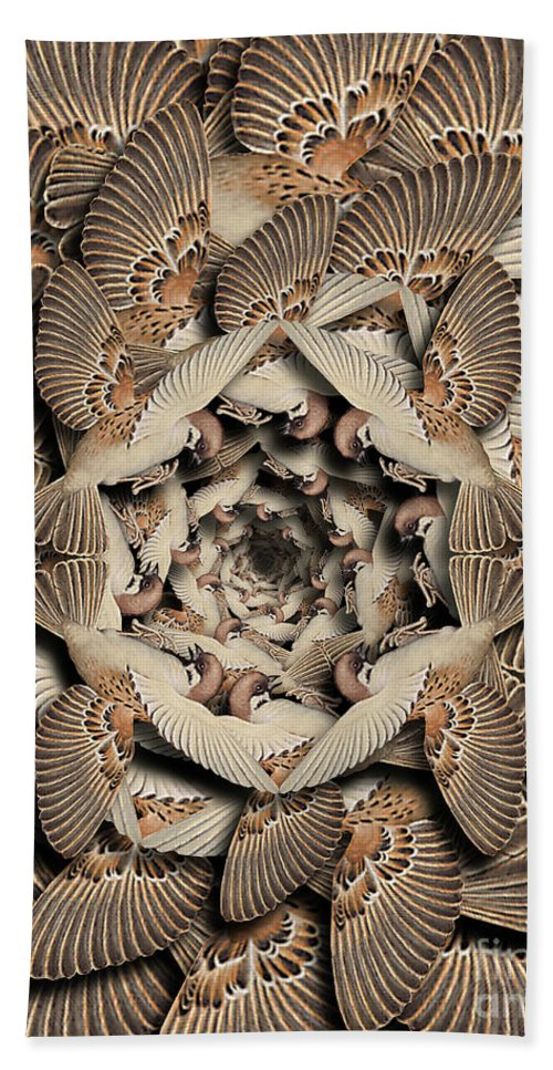 Bird Beach Towel featuring the digital art Forms of Nature #16 by Kenneth Rougeau