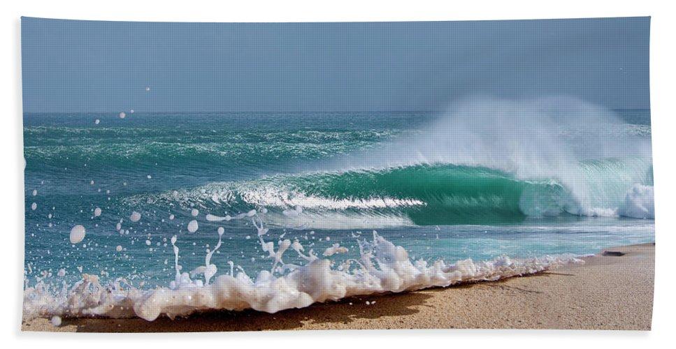 Sea Beach Sheet featuring the photograph Glitter Foam by Sean Davey