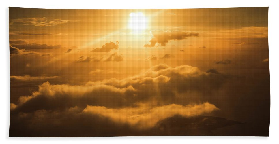 Above Beach Towel featuring the photograph Golden Glow by Jorgo Photography - Wall Art Gallery