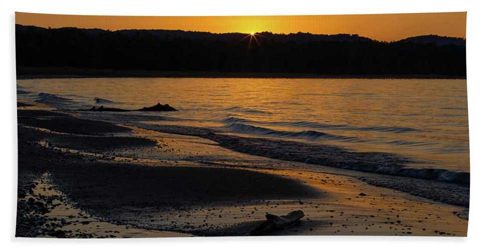 Sleeping Beach Towel featuring the photograph Good Harbor Bay Sunset by Heather Kenward