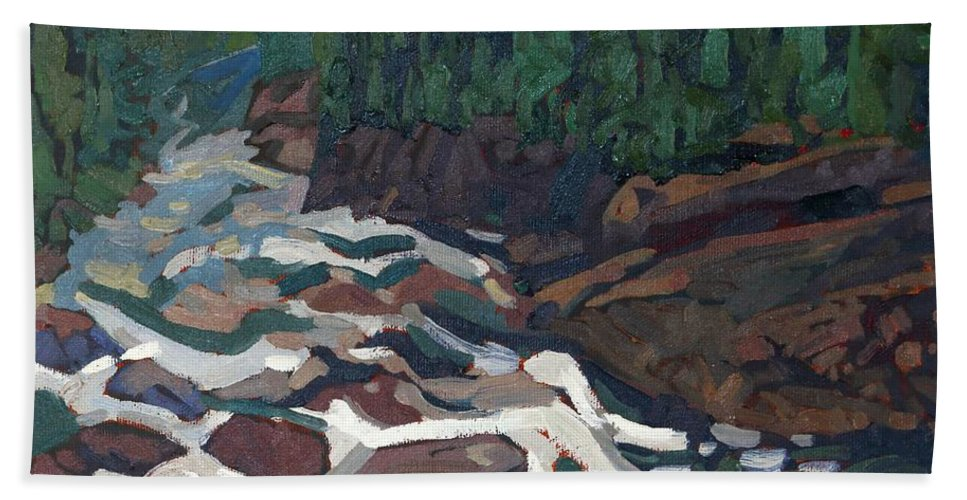 2142 Beach Sheet featuring the painting Grande Chute Morning Light by Phil Chadwick