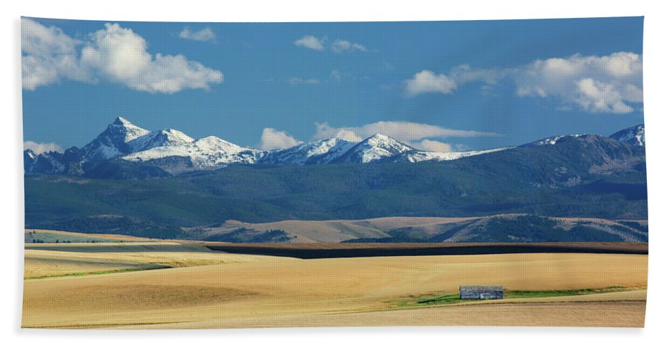 Gallatin Mountains Beach Towel featuring the photograph Great Gallatin by Todd Klassy