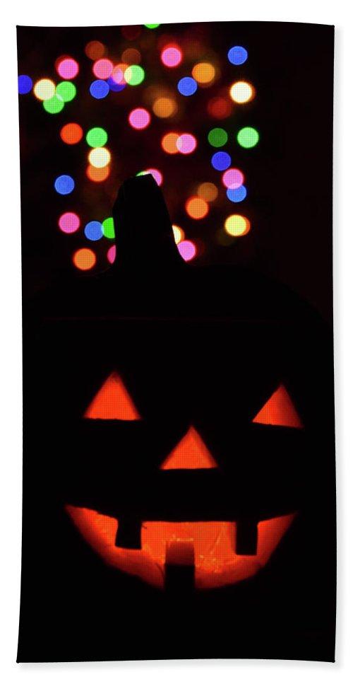 Jackolantern Beach Towel featuring the photograph Happy Halloween by Viktoriya Sorochuk
