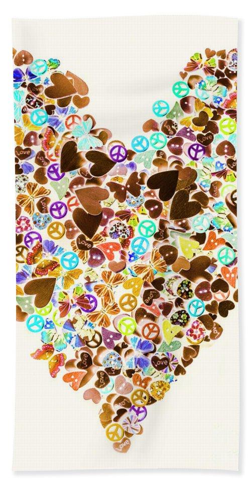 Heart Beach Towel featuring the photograph Heart Of A Hippie by Jorgo Photography - Wall Art Gallery