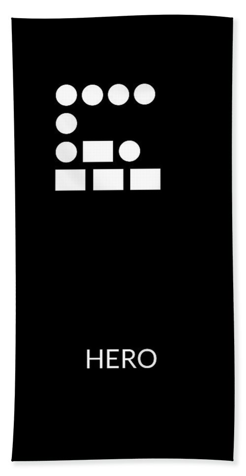 Hero Beach Towel featuring the digital art Hero Morse Code- Art By Linda Woods by Linda Woods
