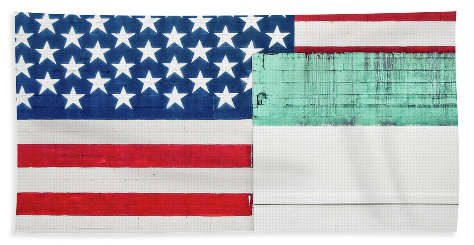Americana Beach Towel featuring the photograph Industrial Glory by Todd Klassy