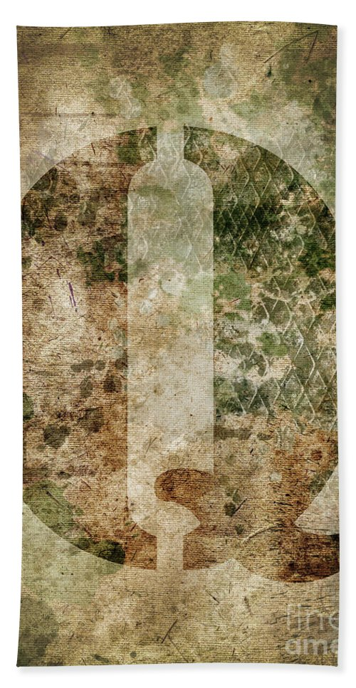 Letter Beach Towel featuring the photograph Industrial Letter Q by Delphimages Photo Creations