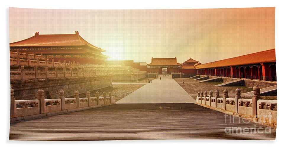Forbidden City Beach Towel featuring the photograph Inside The Forbidden City by Delphimages Photo Creations