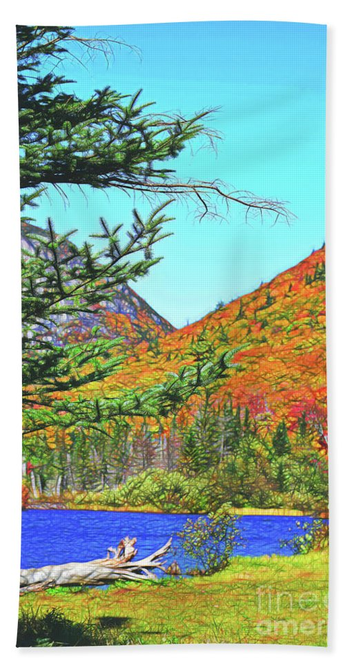 New Hampshire Beach Towel featuring the photograph Jnh Crawford Notch by Patti Whitten