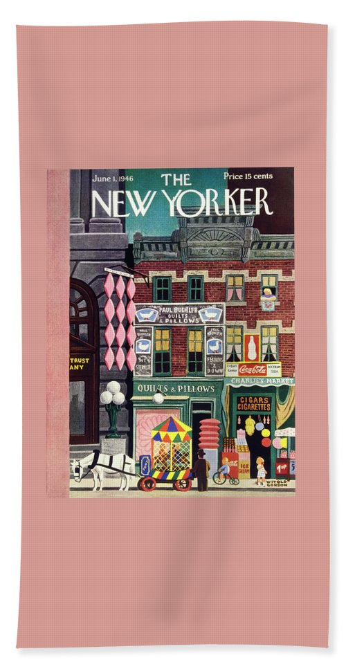 Illustration Beach Sheet featuring the painting New Yorker June 1, 1946 by Witold Gordon