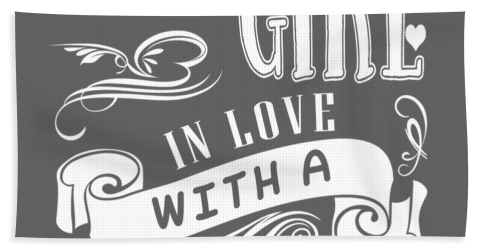Just A Girl Beach Towel featuring the digital art Just A Girl In Love With A Drummer by Do David