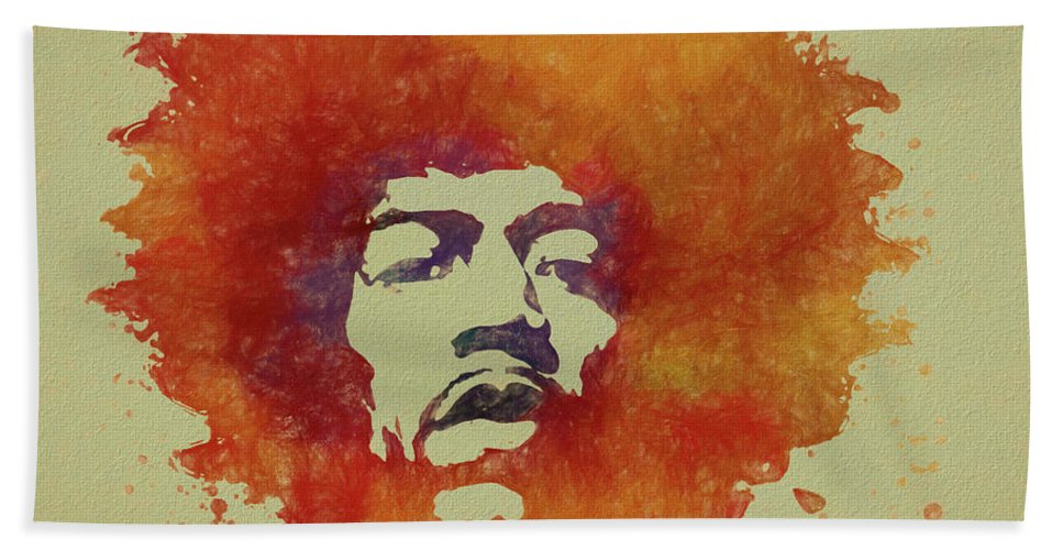 Psychedlic Beach Towel featuring the painting Just Jimi by Dan Sproul
