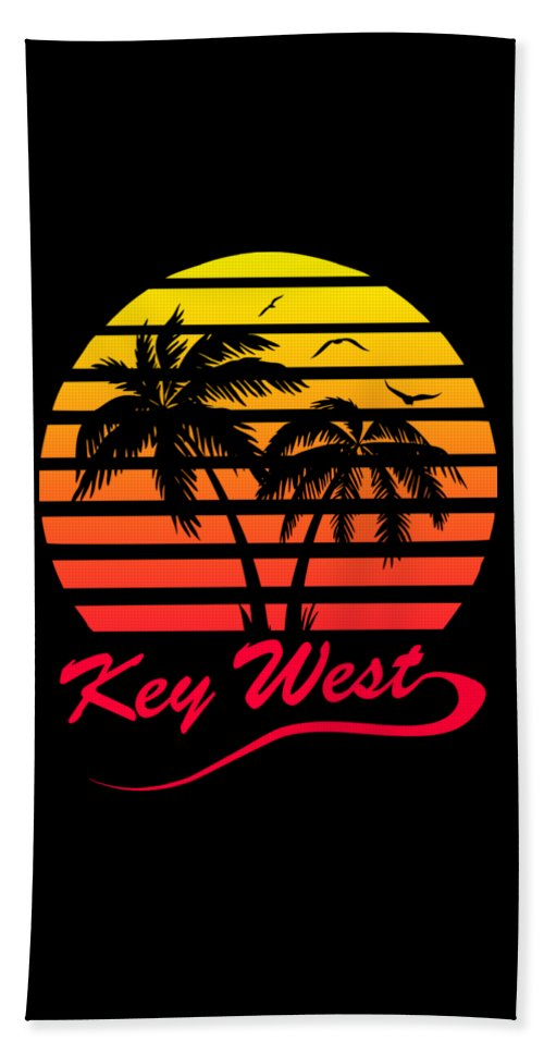 Key Beach Towel featuring the digital art Key West by Filip Schpindel