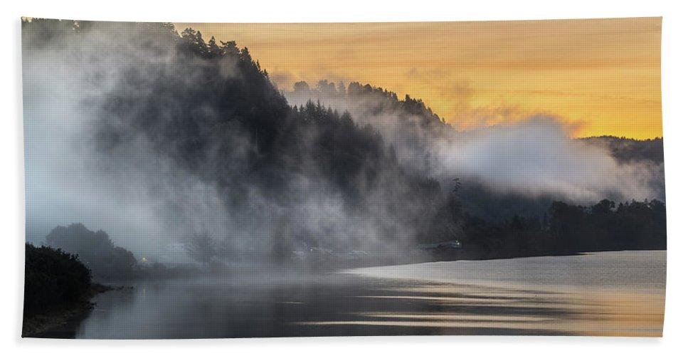 Klamath River Beach Sheet featuring the photograph Klamath Dawn by Greg Nyquist