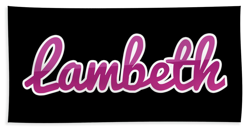Lambeth Beach Towel featuring the digital art Lambeth #lambeth by TintoDesigns