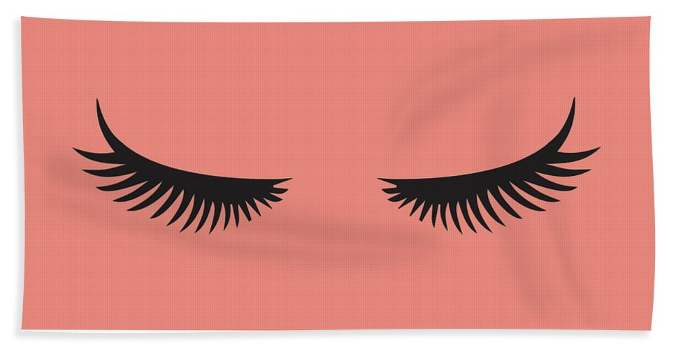 Eye Beach Towel featuring the painting Lashes by Sd Graphics Studio