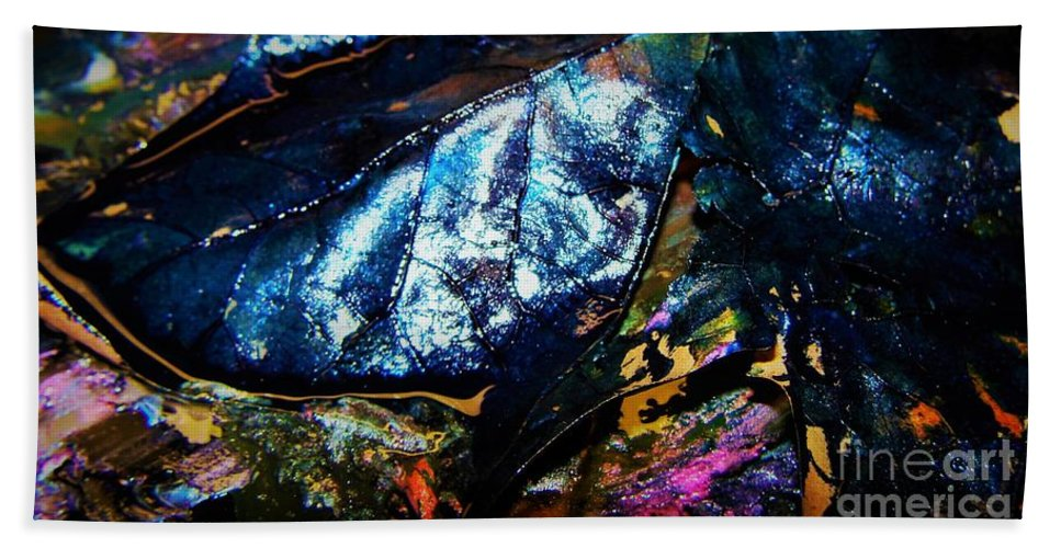 Abstract Beach Towel featuring the photograph Leaf Series 3 by Nordan Nielsen