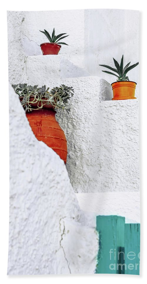 Greece Beach Towel featuring the photograph Levels by PrintsProject