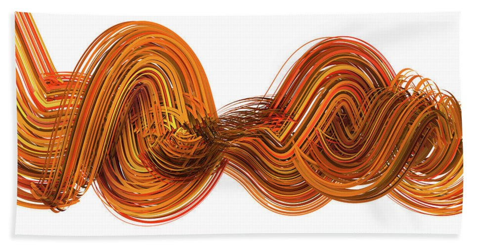 Brown Beach Towel featuring the digital art Lines And Curves 2 by Scott Norris