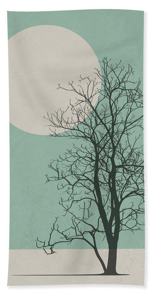 Tree Beach Towel featuring the digital art Lonely Tree II by Naxart Studio