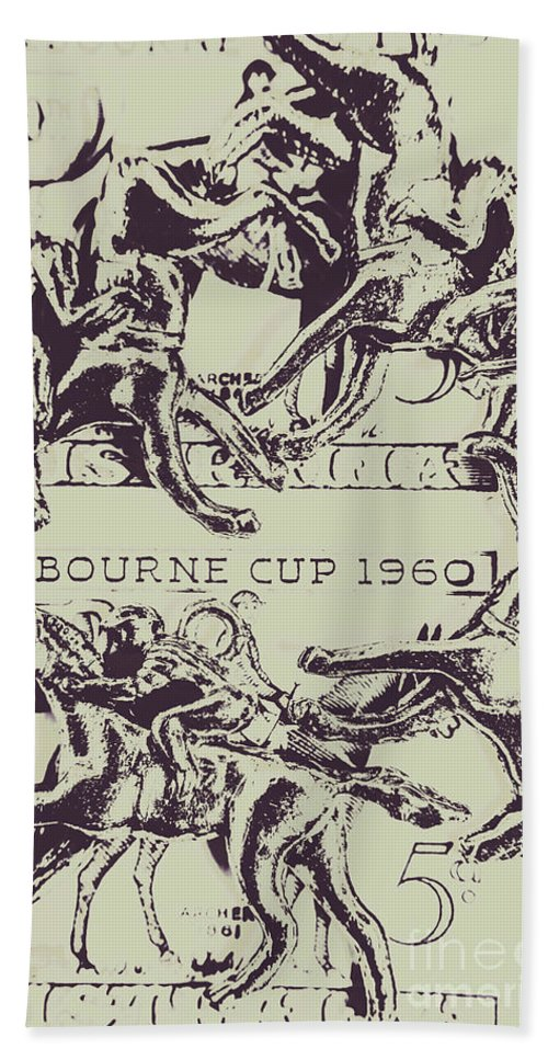 Race Beach Towel featuring the photograph Melbourne Cup 1960 by Jorgo Photography - Wall Art Gallery