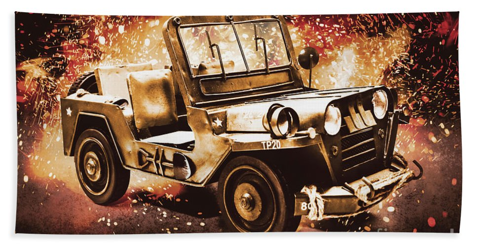 Military Beach Sheet featuring the photograph Military Machine by Jorgo Photography - Wall Art Gallery