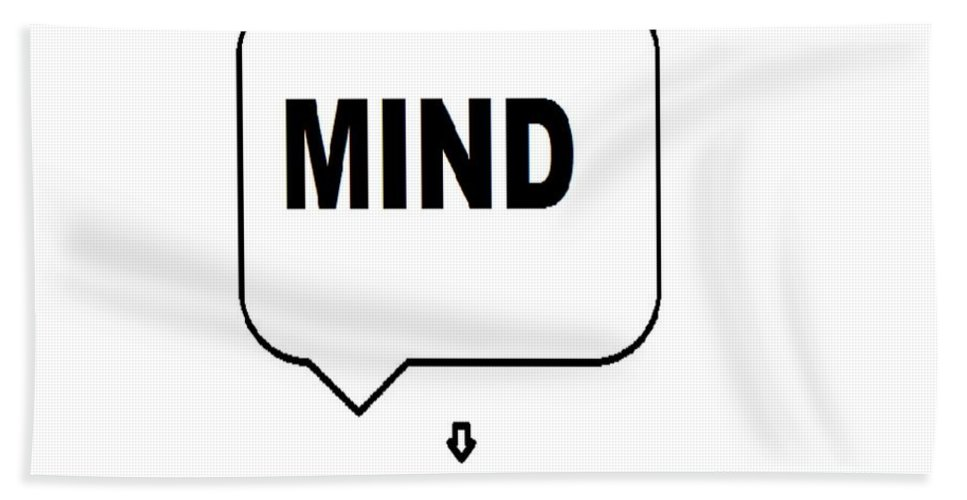 Print Beach Towel featuring the digital art Mind over matter by Andrew Johnson