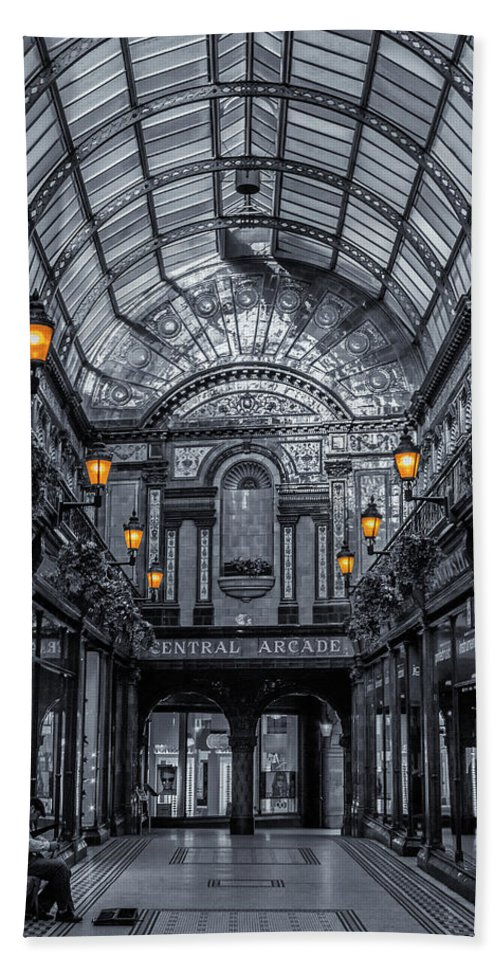 Central Beach Towel featuring the photograph Newcastle Central Arcade by David Pringle