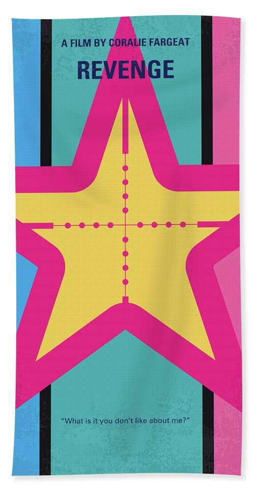 Revenge Beach Towel featuring the digital art No970 My Revenge Minimal Movie Poster by Chungkong Art