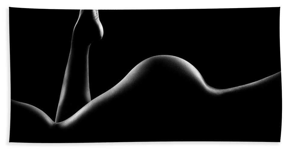 Woman Beach Towel featuring the photograph Nude woman bodyscape 14 by Johan Swanepoel