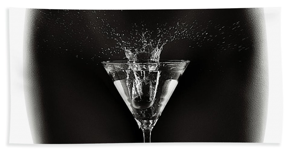 Woman Beach Towel featuring the photograph Nude Woman With Martini Splash by Johan Swanepoel