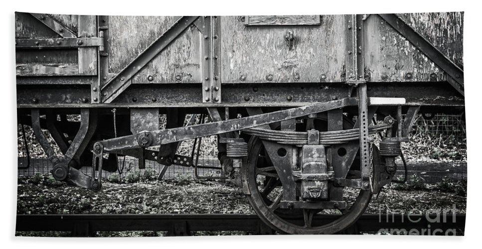 Train Beach Towel featuring the photograph Old Train In Bristol by Delphimages Photo Creations