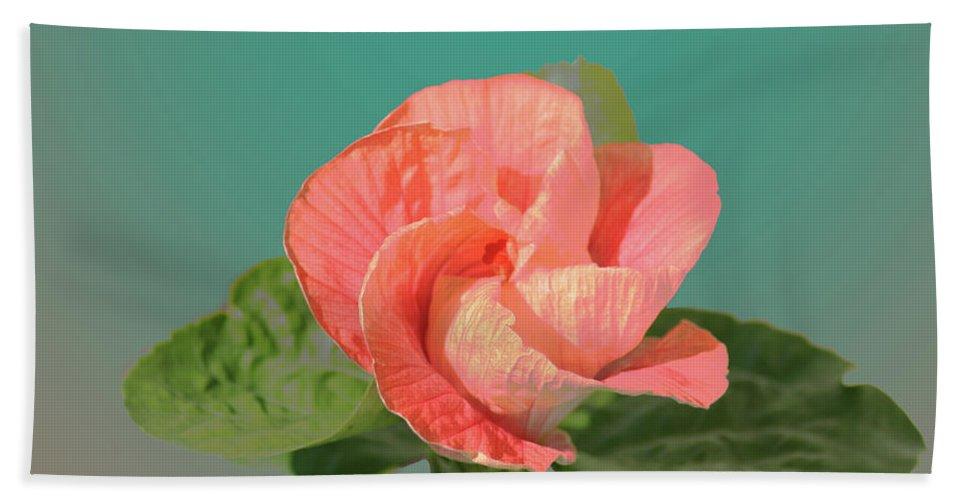 Flower Beach Towel featuring the digital art Opening by Steve Karol