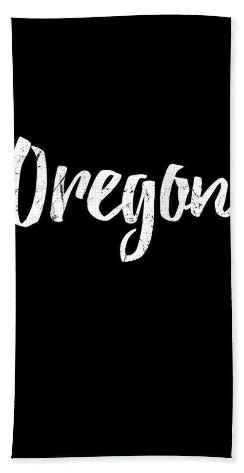 Cool Beach Towel featuring the digital art Oregon by Flippin Sweet Gear