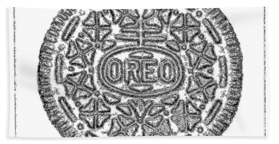 Oreo Beach Towel featuring the photograph Oreo Redux White by Rob Hans