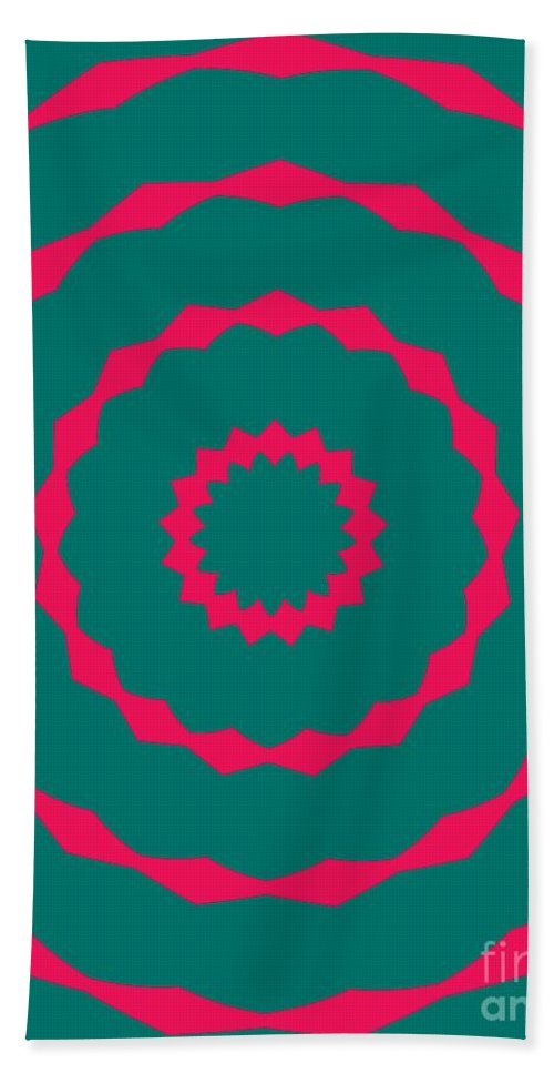 Round Beach Towel featuring the painting Ornament Number Five by Alex Caminker
