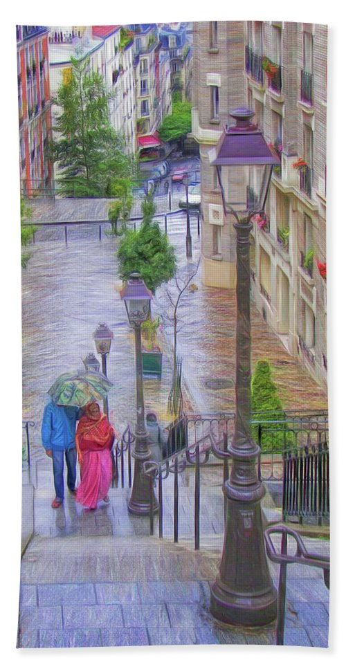 Paris Beach Towel featuring the photograph Paris Sous La Pluie by Nikolyn McDonald