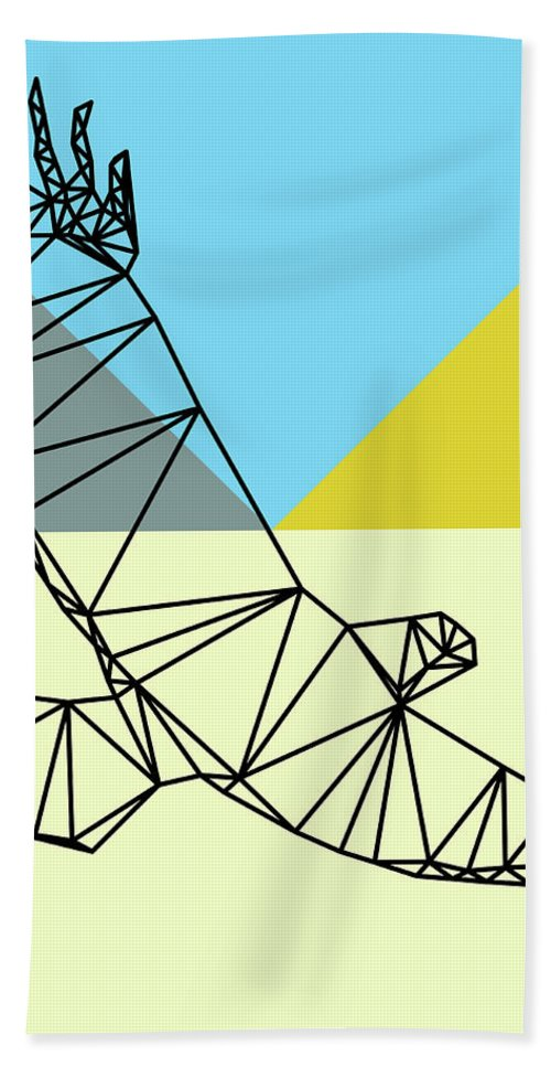 Eagle Beach Towel featuring the digital art Party Eagle by Naxart Studio