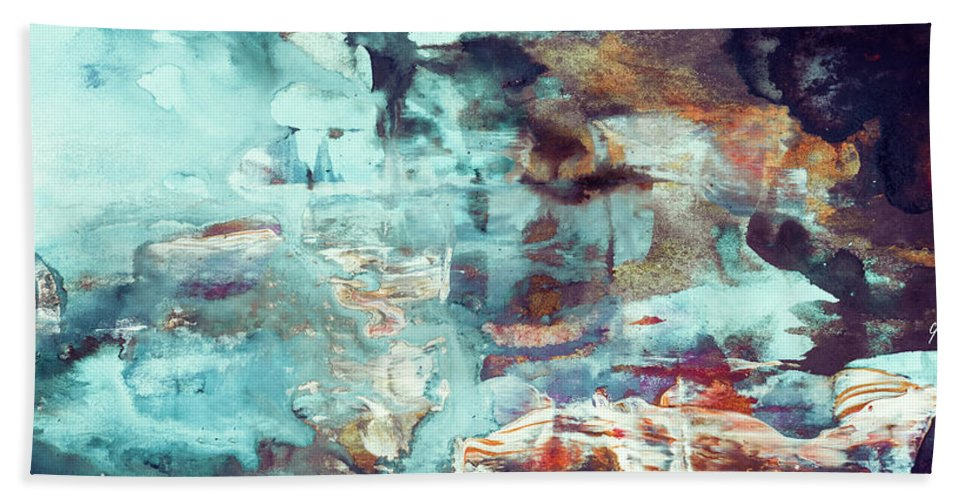 Abstract Beach Sheet featuring the painting Perfect Morning - Large Contemporary Abstract Painting by Modern Art Prints