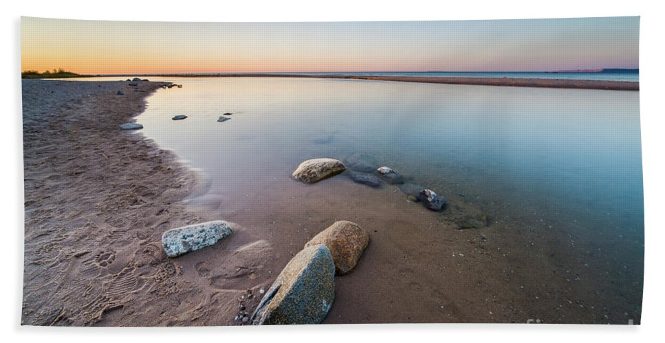Platte River Beach Towel featuring the photograph Platte River Summer Evening by Twenty Two North Photography