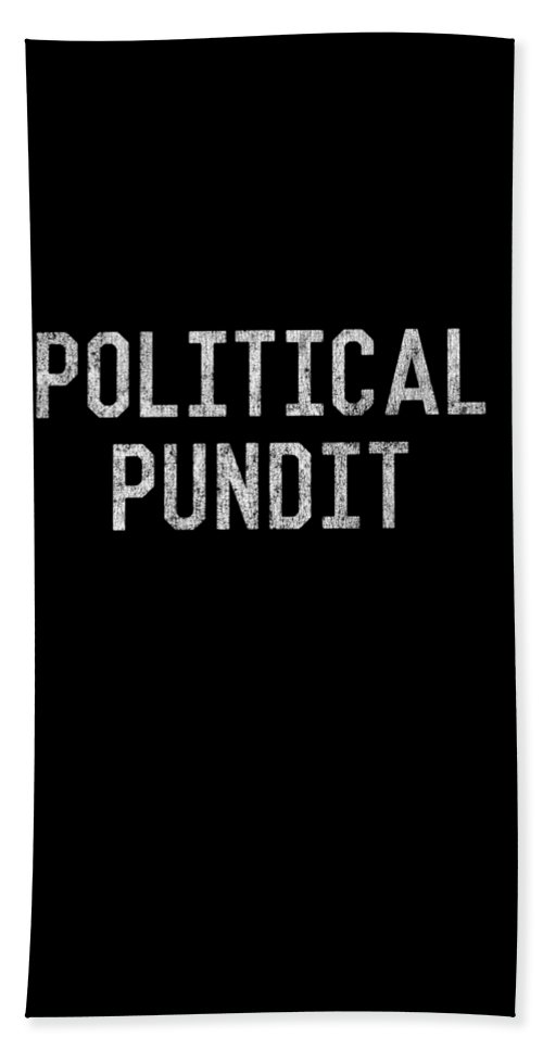 Cool Beach Towel featuring the digital art Political Pundit Vintage by Flippin Sweet Gear