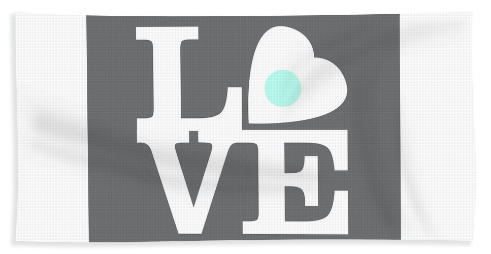 Love Beach Sheet featuring the digital art Pop Art Love In Gray by Delphimages Photo Creations